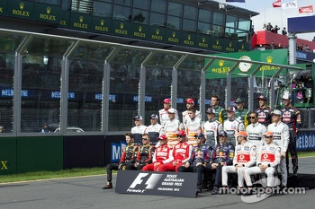 The drivers start of year photograph