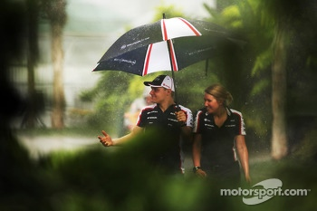 Valtteri Bottas, Williams during a storm