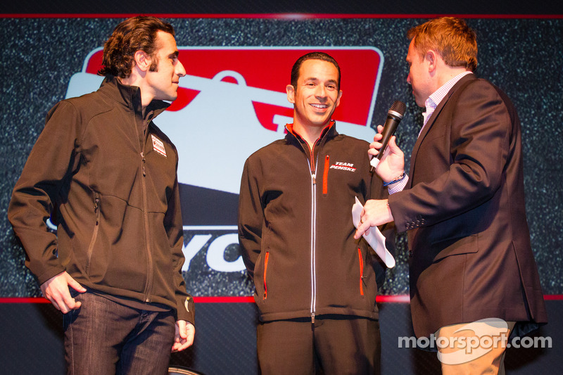 Drivers presentation: Dario Franchitti, Target Chip Ganassi Racing Honda and Helio Castroneves, Team Penske Chevrolet