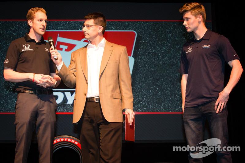 Drivers presentation: Charlie Kimball, Novo Nordisk Chip Ganassi Racing Honda and Josef Newgarden, Sarah Fisher Hartman Racing Hionda