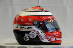 The helmet of Marc Basseng, SEAT Leon WTCC, Munnich Motorsport