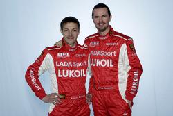 Alexey Dudukalo, Lada Granta, LADA Sport Lukoil and  James Thompson, Lada Granta, LADA Sport Lukoil