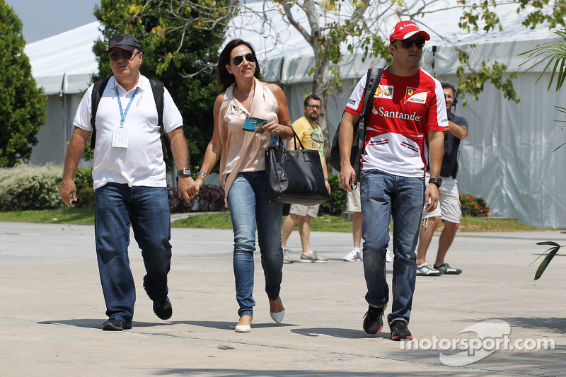 Felipe Massa, Ferrari with his parents