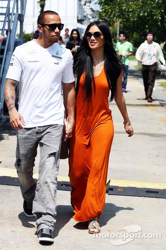 Lewis Hamilton mit Nicole Scherzinger