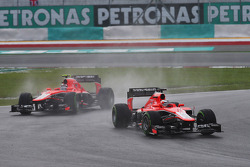 Jules Bianchi, Marussia F1 Team MR02 leads Max Chilton, Marussia F1 Team MR02