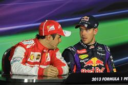 Sebastian Vettel and Felipe Massa