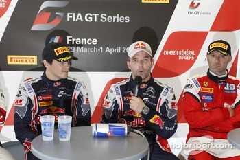 Race winners Sbastien Loeb and Alvaro Parente