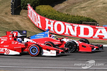Justin Wilson, Dale Coyne Racing and Scott Dixon, Chip Ganassi Racing