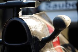 Sauber C32 engine cover detail