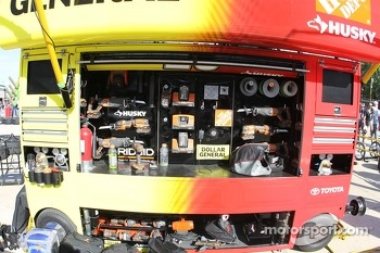 Matt Kenseth, Joe Gibbs Racing Toyota pitbox