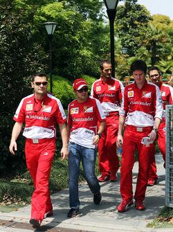 Felipe Massa, Ferrari and Rob Smedley, Ferrari Race Engineer