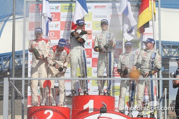 Podium celebration