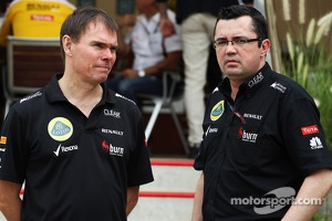 (L to R): Alan Permane, Lotus F1 Team Trackside Operations Director with Eric Boullier, Lotus F1 Team Principal