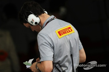Pirelli technician for Sahara Force India F1 Team
