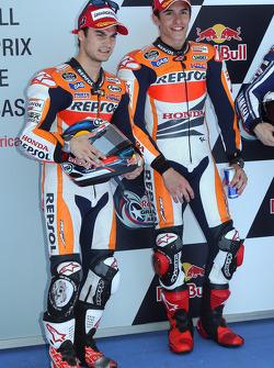 Polesitter Marc Marquez, second place Dani Pedrosa