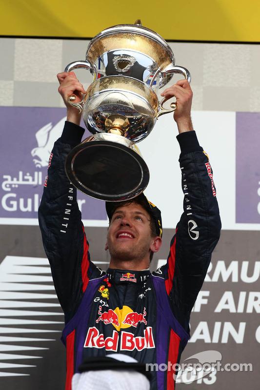 First place Sebastian Vettel, Red Bull Racing