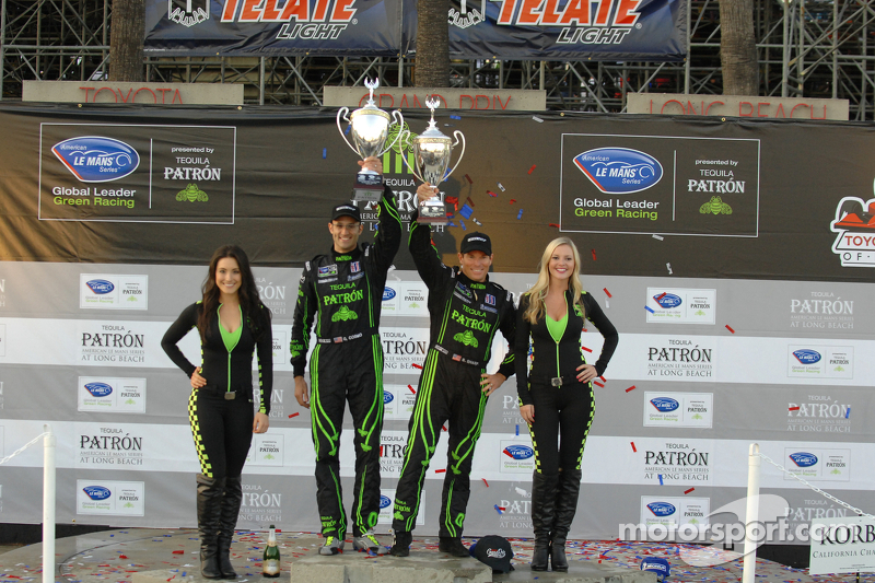 P2 podium: winners Scott Sharp, Guy Cosmo