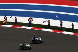Hector Barbera, Avintia Blusens FTR and Bryan Staring, Go & Fun Honda Gresini