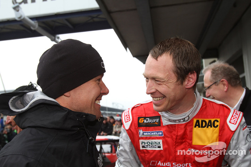 Race winners Marcel Fässler, Frank Stippler, Phoenix Racing, Audi R8 LMS Ultra