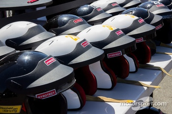 Ferrari client helmets for track sessions