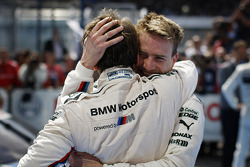 Winner Augusto Farfus, BMW Team RBM BMW M3 DTM and Dirk Werner, BMW Team Schnitzer BMW M3 DTM celebrating