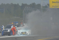 Adrien Tambay, Audi Sport Team Abt Audi RS 5 DTM on fire