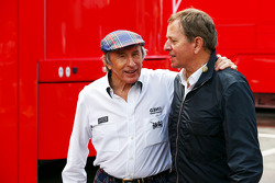 Jackie Stewart, with Martin Brundle, Sky Sports Commentator