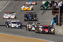 Race start: #12 Rebellion Racing Lola B12/60: Nick Heidfeld, Neel Jani leads