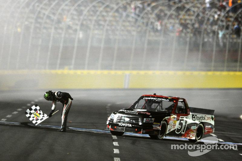 Race winner Kyle Busch