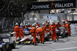 Start of the race, Crash, Daniel Abt