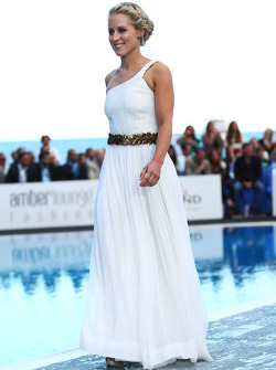Jennifer Becks, girlfriend of Adrian Sutil, Sahara Force India F1, at the Amber Lounge Fashion Show