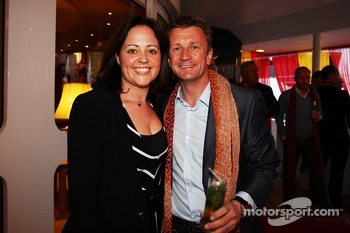 Allan McNish, with his wife Kelly McNish, at the Signature F1 Monaco Party