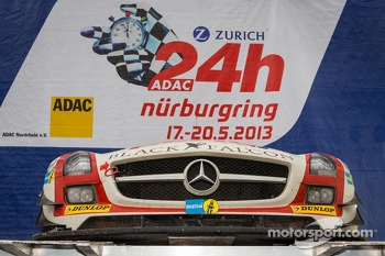 Winning car #9 Black Falcon Mercedes-Benz SLS AMG GT3 (SP9) on the podium in parc fermé