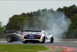 #42 Sainteloc Racing Audi R8 LMS Ultra: David Hallyday, Ronnie Latinne, Romain Monti