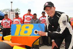 Polesitter Mike Conway, Dale Coyne Racing Honda