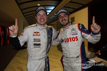 Winner Jari-Matti Latvala and WR2 winner Robert Kubica