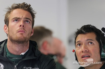 Giedo van der Garde, Caterham F1 Team with Juan Pablo Ramirez, Caterham Race Engineer