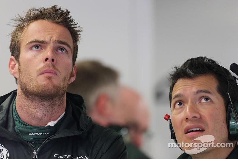 Giedo van der Garde, Caterham F1 Team with Juan Pablo Ramirez, Caterham Race Engineer