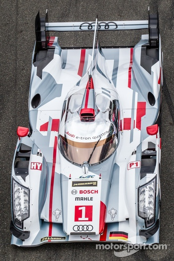 #1 Audi Sport Team Joest Audi R18 e-tron quattro at the car group photoshoot
