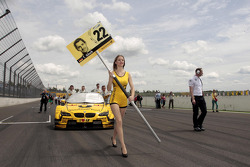 Grid girl of Timo Glock, BMW Team MTEK BMW M3 DTM