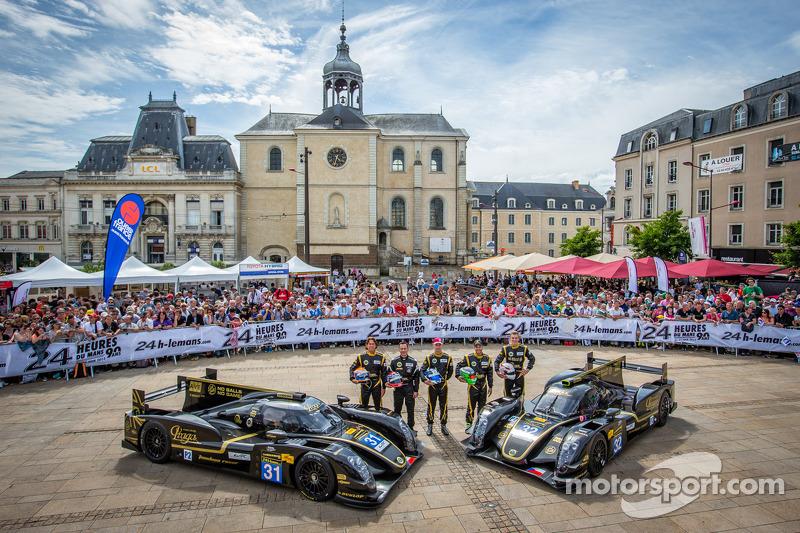 #31 Lotus Praga LMP2 Lotus T128: Kevin Weeda, Christophe Bouchut,#32 Lotus Praga LMP2 Lotus T128: Thomas Holzer, Dominik Kraihamer, Jan Charouz