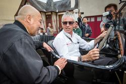 Pontlieue hairpin recreation event: Yojiro Terada and Rinaldo Capello