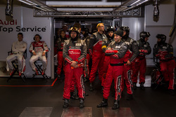 Audi #2 garage in anticipation of pole