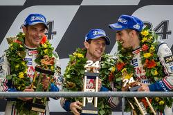 LMP1 podium: second place Anthony Davidson, Stéphane Sarrazin, Sébastien Buemi