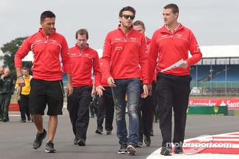 Jules Bianchi, Marussia F1 Team walks the circuit.