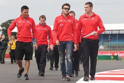 Jules Bianchi, Marussia F1 Team walks the circuit.