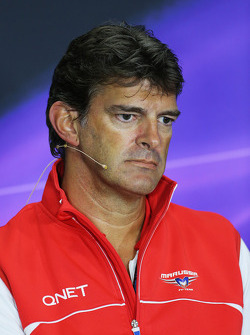 Graeme Lowdon, Marussia F1 Team Chief Executive Officer in the FIA Press Conference