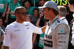 Lewis Hamilton, Mercedes AMG F1 W04 and Nico Rosberg, Mercedes AMG F1 W04