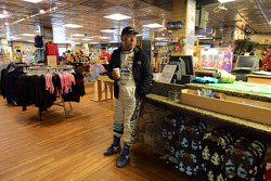 Nobuhiro Tajima waits in the gift shop
