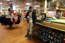 Nobuhiro Tajima waits in the gift shop